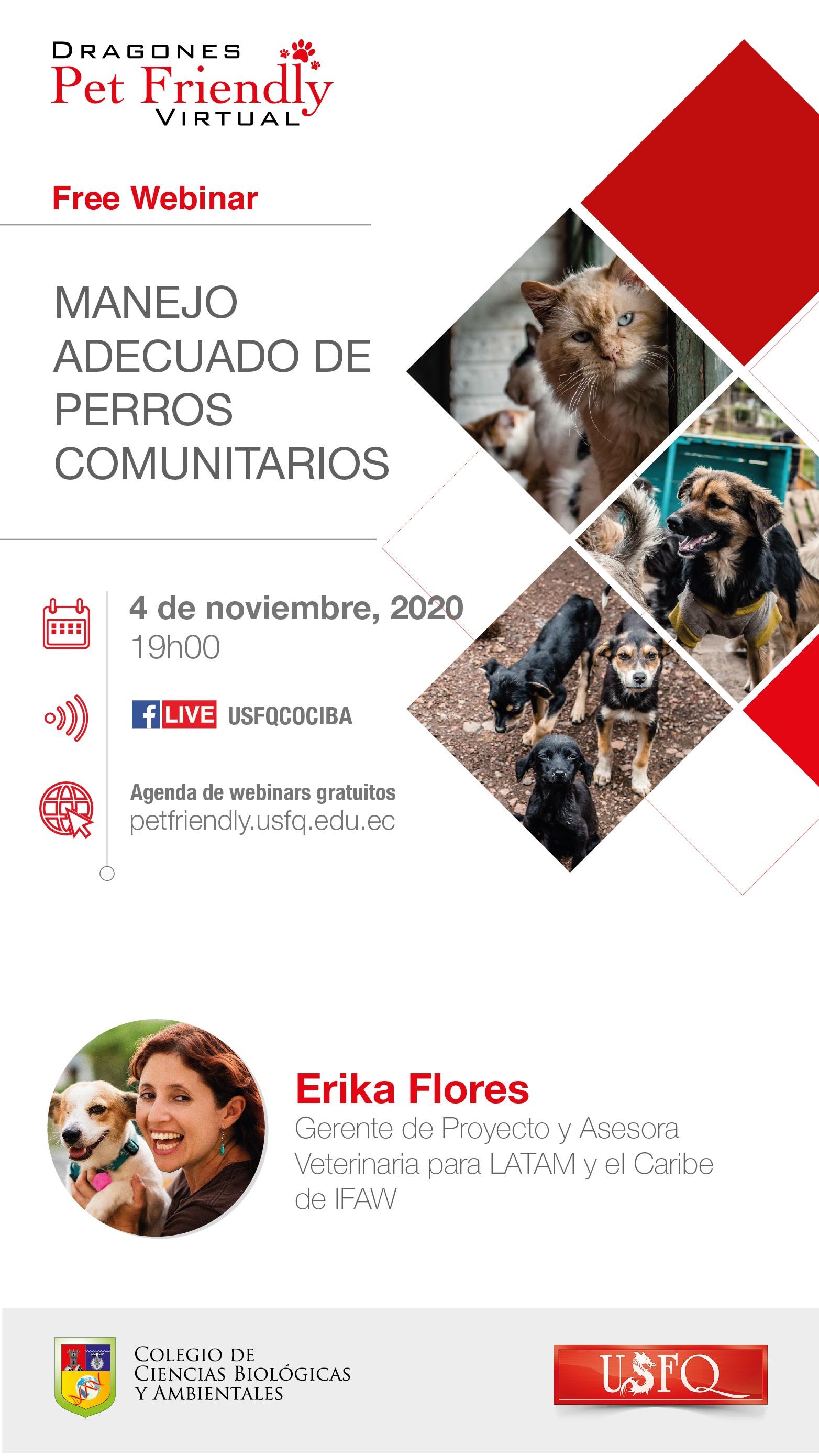 """Webinar """"Manejo adecuado de perros comunitarios"""""""