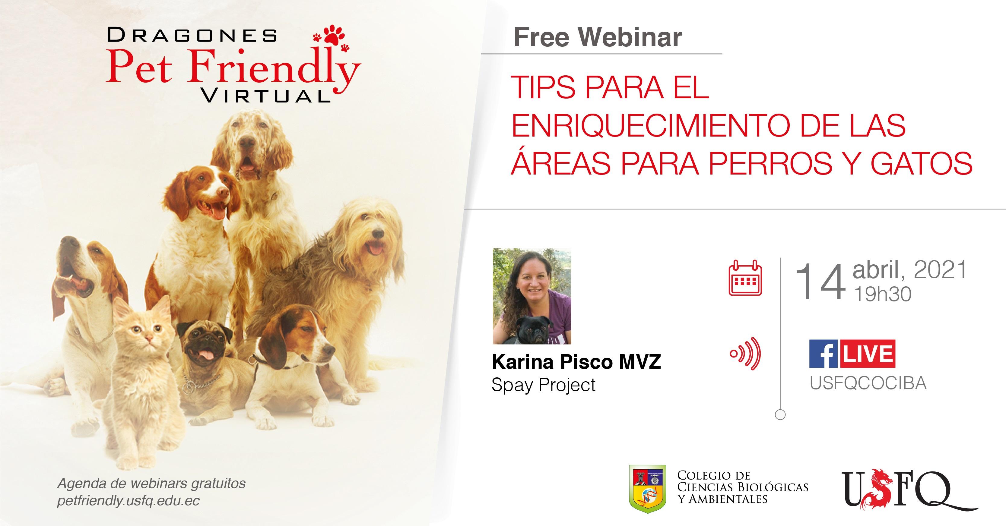 Webinar Tips para el enriquecimiento de las áreas para perros y gatos